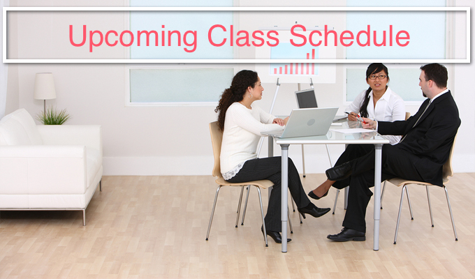 Upcoming Class Schedule